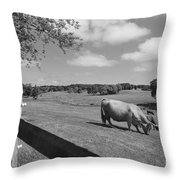 Grazing The Day Away Throw Pillow
