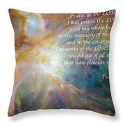 Great Are His Works Throw Pillow