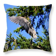 Great Blue Heron Cover Up Throw Pillow