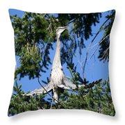 Great Blue Heron Meditation Pacific Northwest Throw Pillow