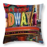 Great Canadian Midway Throw Pillow