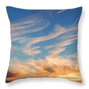 Great Canadian Sunset Throw Pillow