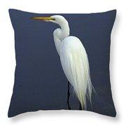 Great Egret 2 Throw Pillow