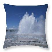 Great Fountain Geyser Seen Throw Pillow