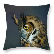 Great Horned Owl Throw Pillow