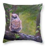 Great Horned Owlette Throw Pillow