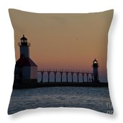 Great Lake Lighthouse Throw Pillow