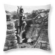 Great Lakes: Ancient Miner Throw Pillow