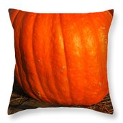 Great Orange Pumpkin Throw Pillow