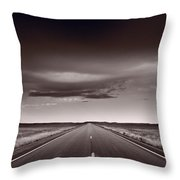 Great Plains Road Trip Bw Throw Pillow