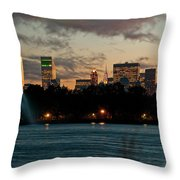 Great Pond Fountain Throw Pillow