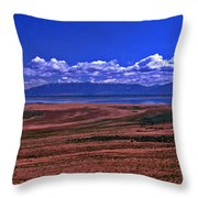 Great Salt Lake And Antelope Island Throw Pillow