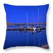 Great Salt Lake Antelope Island Marina Throw Pillow