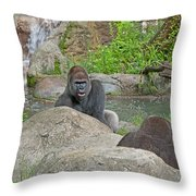 Great Silverback Throw Pillow