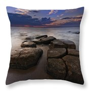 Great South Bay Sunset Throw Pillow
