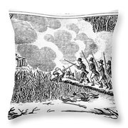 Great Swamp Fight, 1675 Throw Pillow