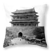Great Wall Of China - Peking - C 1901 Throw Pillow