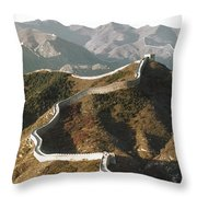 Great Wall Of China, C1970 Throw Pillow