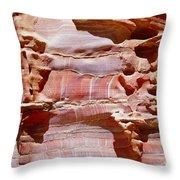 Great Wall Of Petra Jordan Throw Pillow