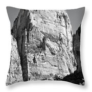 Great White Throne Throw Pillow