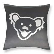 Greatful Dead Dancing Bear In Negative Throw Pillow