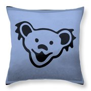 Greatful Dead Dancing Bears In Cyan Throw Pillow