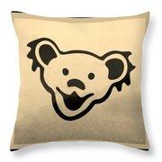 Greatful Dead Dancing Bears In Sepia Throw Pillow