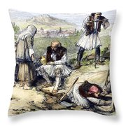 Greece: Grave Robbers Throw Pillow