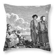 Greece: Naxos, C1790 Throw Pillow