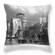 Greece: Negropont, 1833 Throw Pillow by Granger