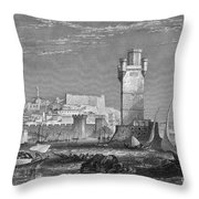 Greece: Rhodes, C1850 Throw Pillow