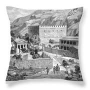 Greece: Road To Athens Throw Pillow
