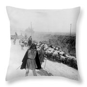 Greece Shepherds And Flocks - C 1909 Throw Pillow by International  Images