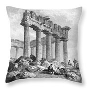 Greece: The Parthenon 1833 Throw Pillow by Granger