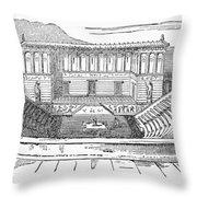 Greece: Theater Of Segesta Throw Pillow