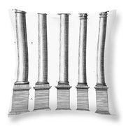 Greek And Roman Columns Throw Pillow