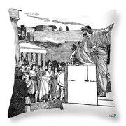 Greek Assembly Throw Pillow
