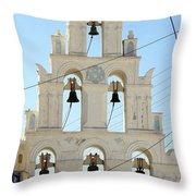 Greek Church Bells Throw Pillow