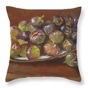 Greek Figs Throw Pillow by Ylli Haruni