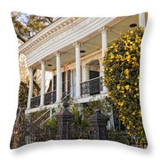 Greek Revival And The Tiny Pink Shoe - Garden District New Orleans Throw Pillow
