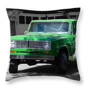 Green And Gray Throw Pillow