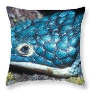 Green Arboreal Alligator Lizard Throw Pillow