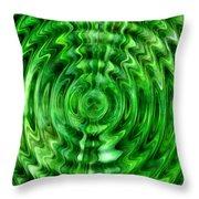 Green As Grass Throw Pillow