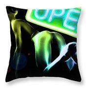 Green Butt Throw Pillow