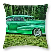 Green Classic Hdr Throw Pillow