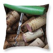 Green Corkscrew Throw Pillow