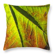 Green Days Past Throw Pillow by Trish Hale