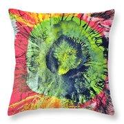 Green Dot Throw Pillow