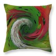 Green Funnel Throw Pillow