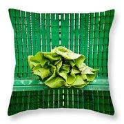 Green Greens Throw Pillow
